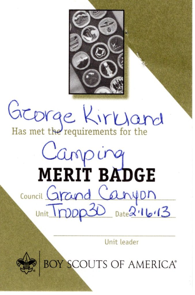 Merit Badge for Camping