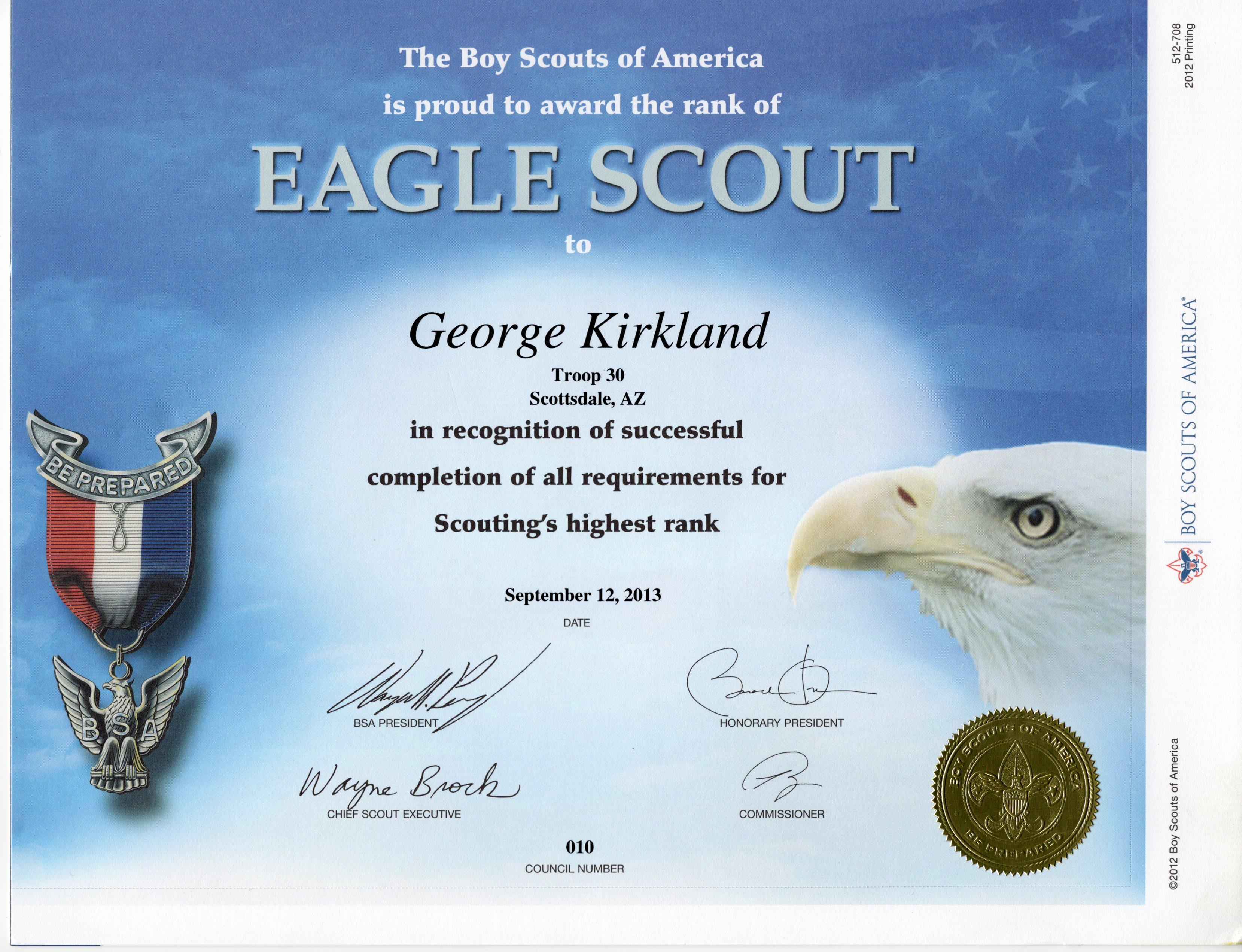 Certificate George Kirkland